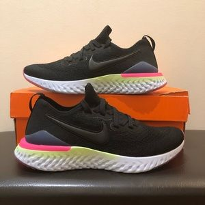 Nike Epic React Flyknit 2 Running Shoes Black